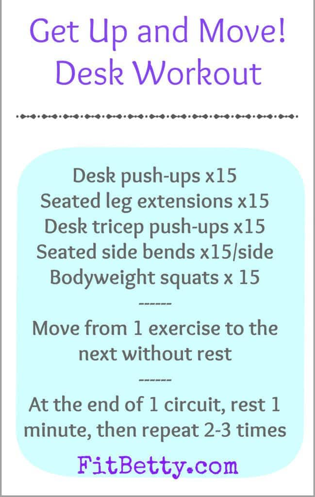 Get Up and Move! Desk Workout