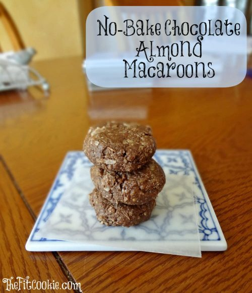 No-Bake Chocolate Almond Macaroons - The Fit Cookie