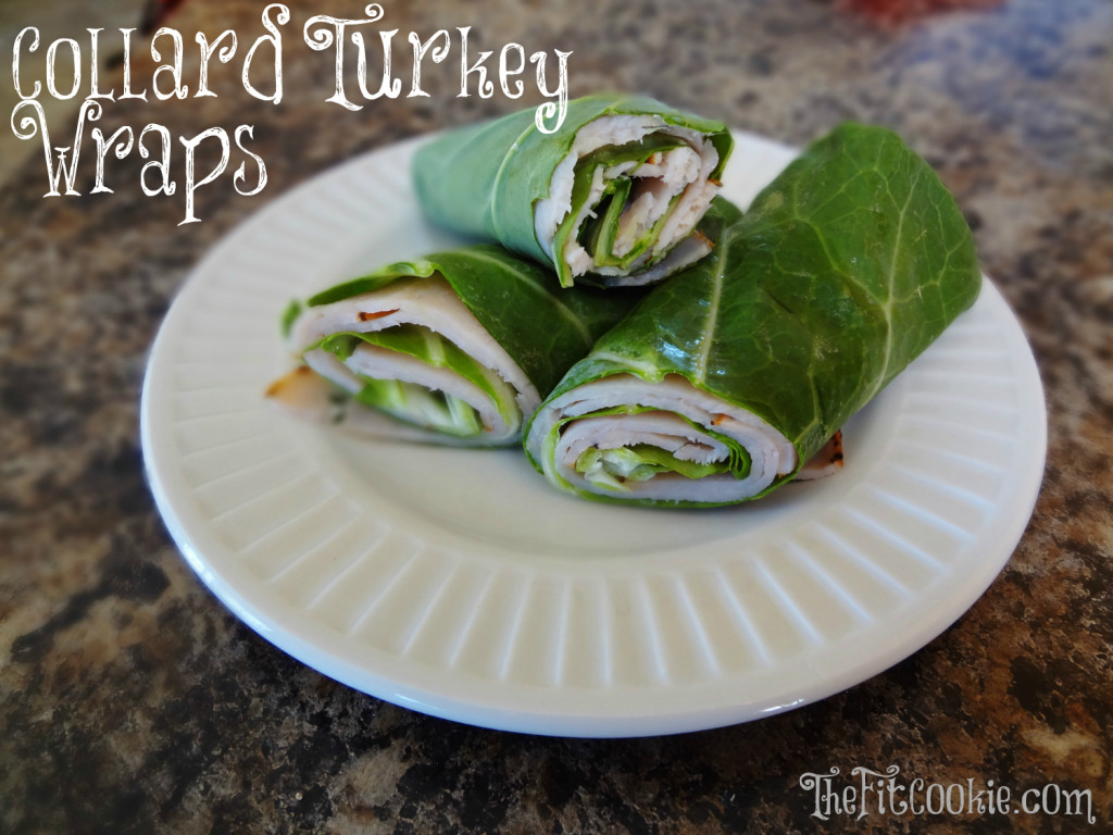 Skipping the bread? No problem! Make these easy paleo Turkey Collard Wraps with Tahini Basil Ranch Dressing instead of a sandwich! - @TheFitCookie #paleo #lunch #healthy