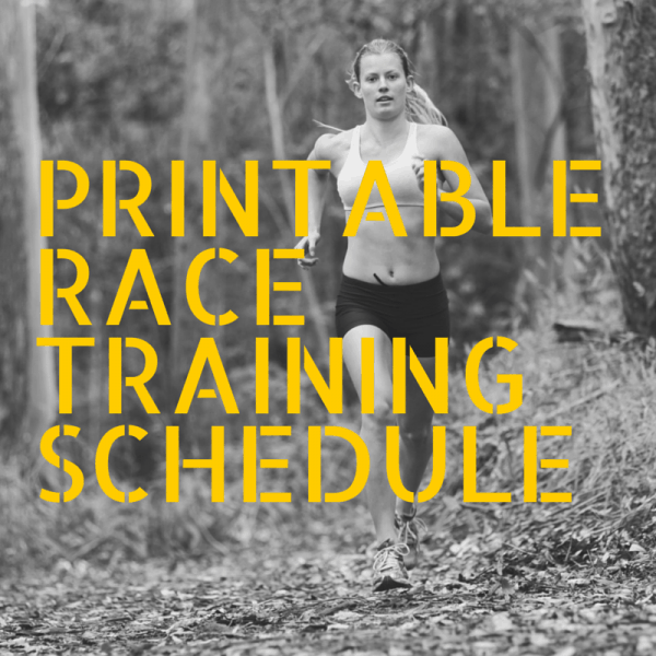 Printable Race Training Schedule