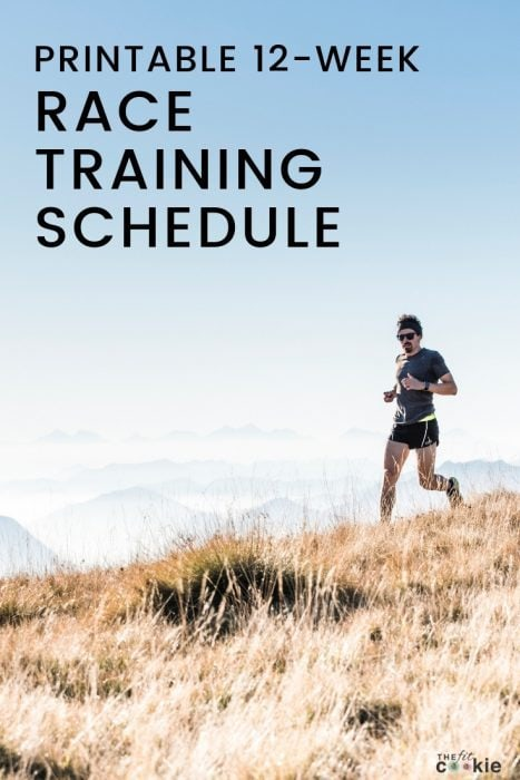 photo of man running in the mountains with text overlay