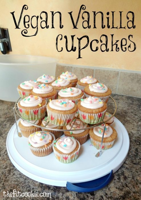 Vegan-Vanilla-Cupcakes - Year in Review: Top Recipes and Fitness Posts of 2015 - @thefitcookie #recipes #fitness #fitfluential #blogging