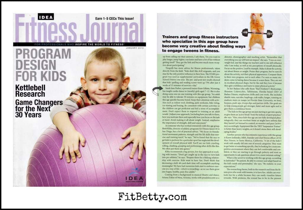 IDEA Fitness Journal Article - FitBetty.com