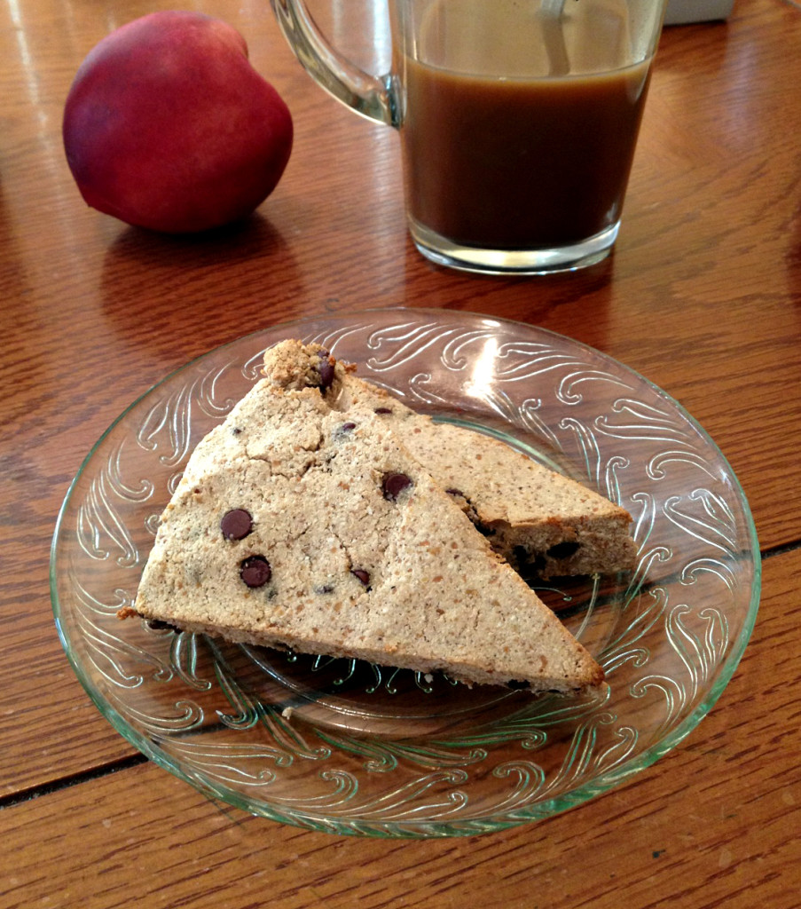 Grain-Free Chocolate Chip Scones - TheFitCookie.com