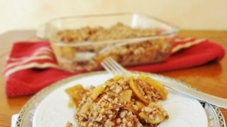 Healthy Gluten Free Maple Apple Crisp (Vegan)