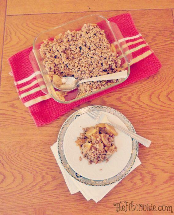 Healthy Gluten-Free Apple Crisp - TheFitCookie.com