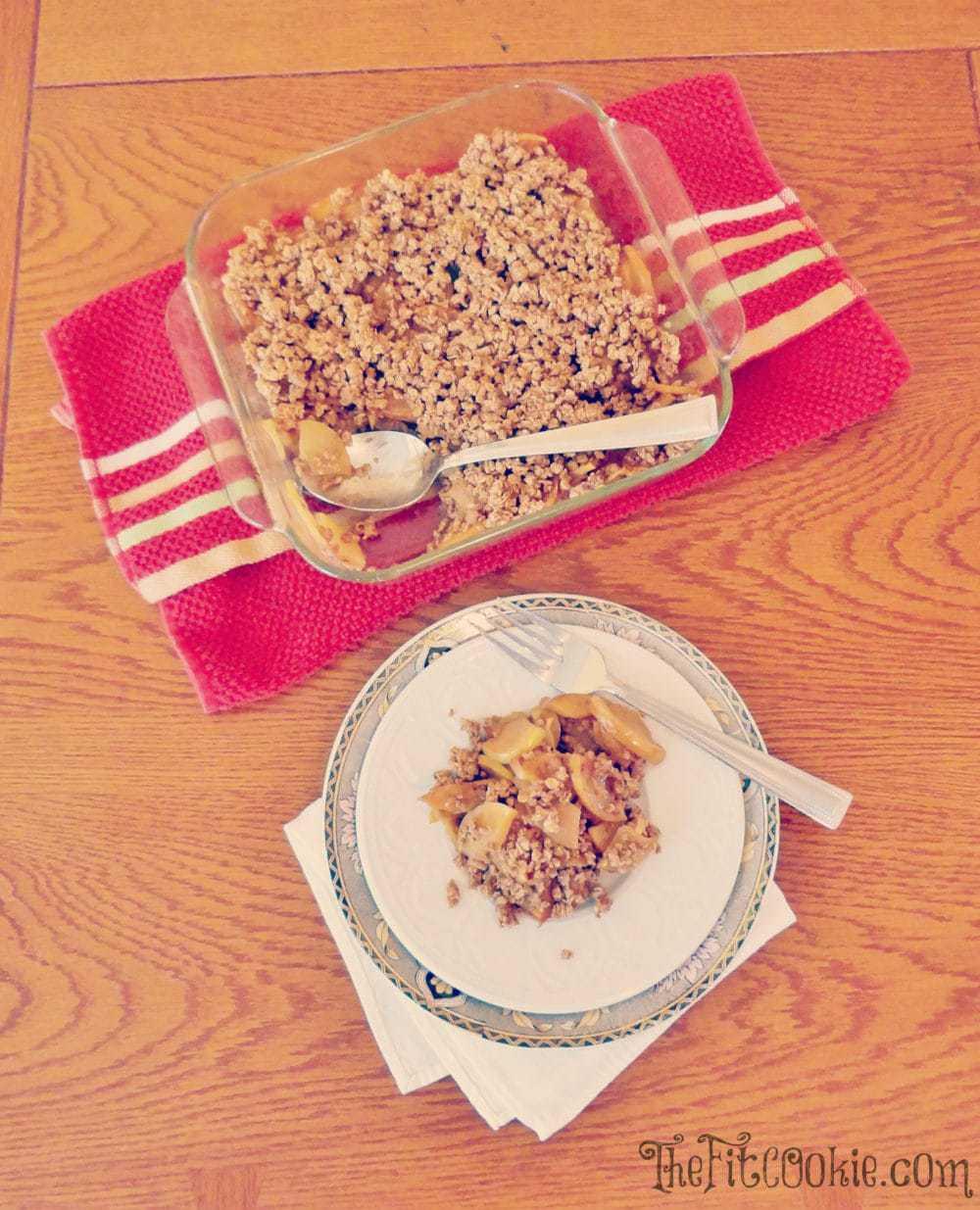 Healthy Gluten Free Maple Apple Crisp