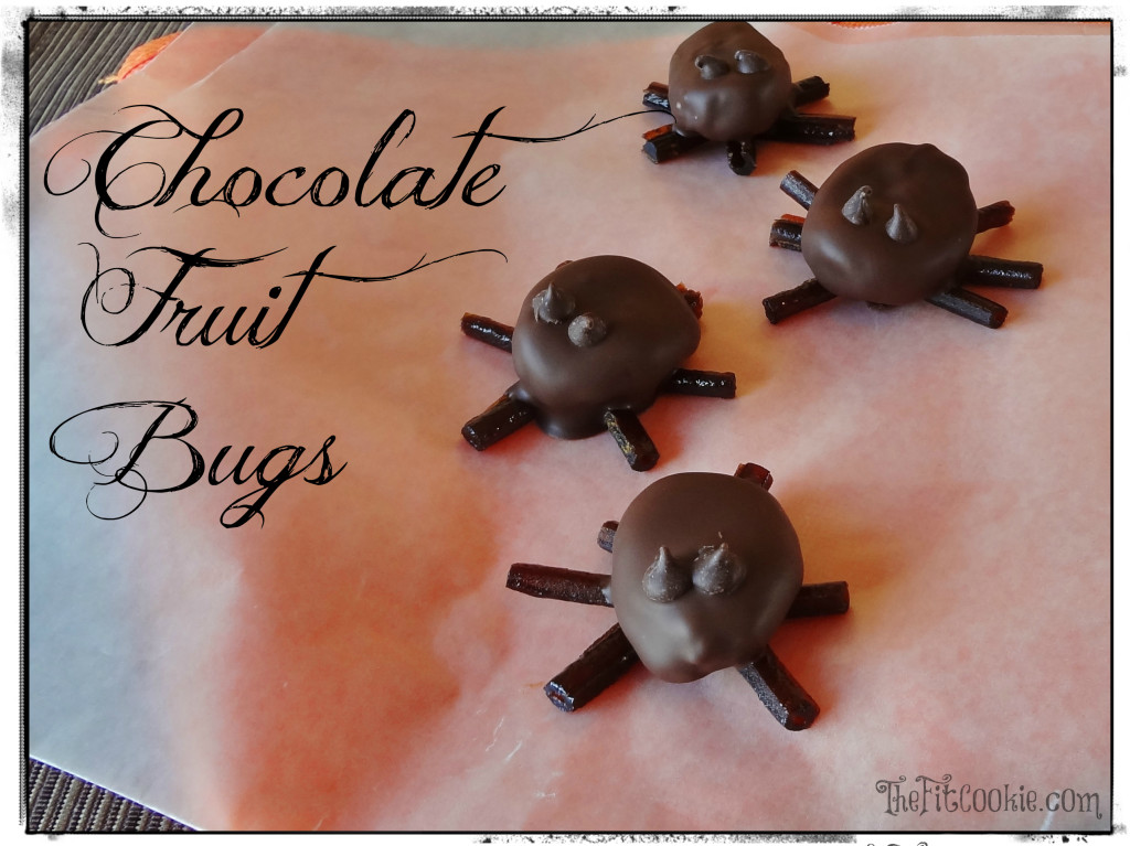 Healthy Halloween Treats: Chocolate Fruit Bugs - TheFitCookie.com