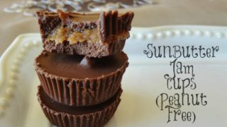 Chocolate SunButter Jam Cups (Dairy Free)