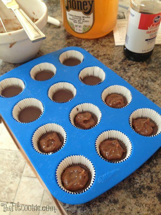 Chocolate SunButter Jam Cups (Peanut Free) - @TheFitCookie #peanutfree #dairyfree #grainfree #glutenfree