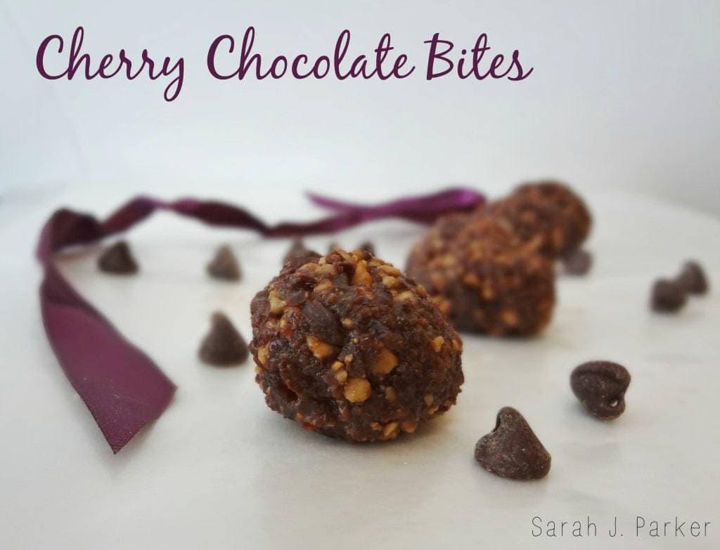 Cherry Chocolate Bites - TheFitCookie.com