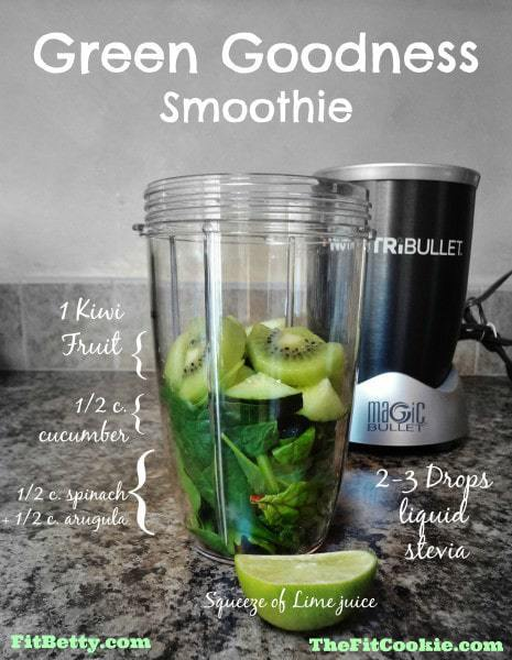 Green Goodness Smoothie - @TheFitCookie #smoothie