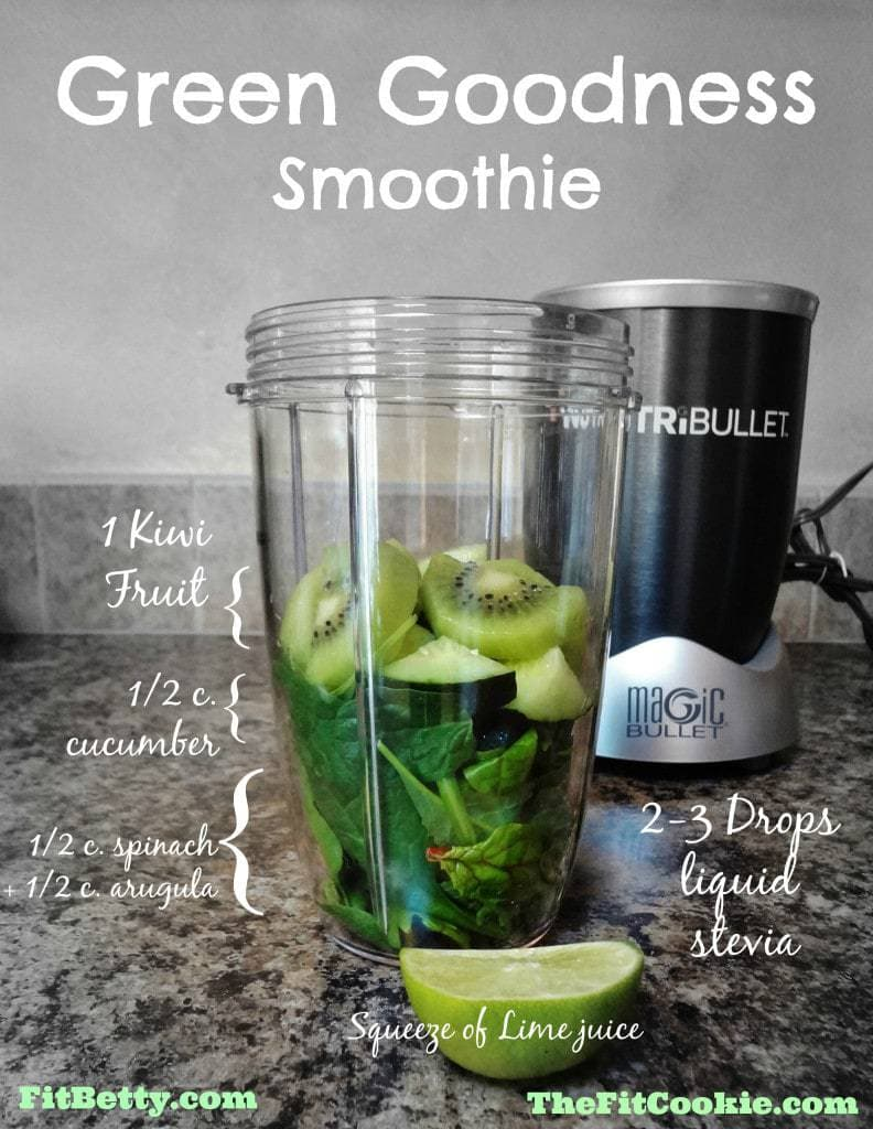 Drink the Rainbow: Green Goodness Smoothie - TheFitCookie.com