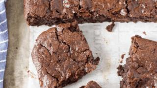 Vegan One Bowl Fudge Brownies (Gluten Free)