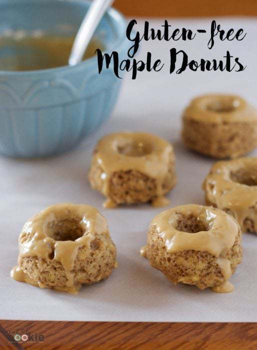 Gluten-Free Mini Maple Donuts {Vegan}