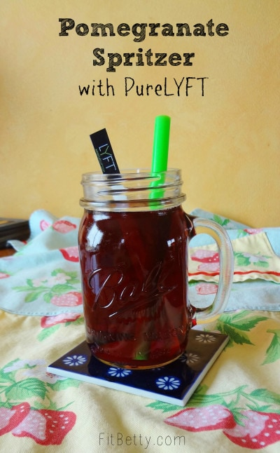 Easy Pomegranate Spritzer {with PureLYFT} • The Fit Cookie