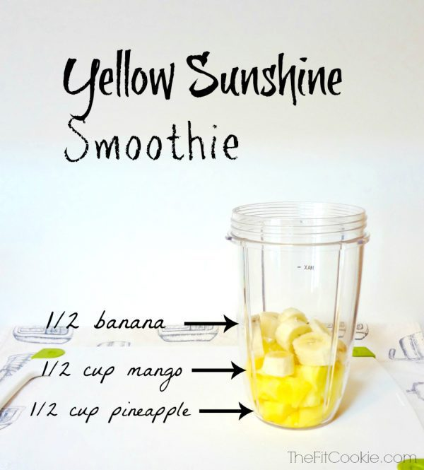 Drink the Rainbow: Yellow Sunshine Smoothie - TheFitCookie.com