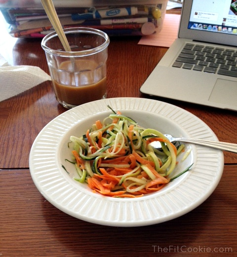 Got Zoodles (or Swoodles)? Veggetti Spiralizer Review - TheFitCookie.com