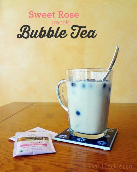 Sweet Rose Mock Bubble Tea {Recipe Redux} - TheFitCookie.com