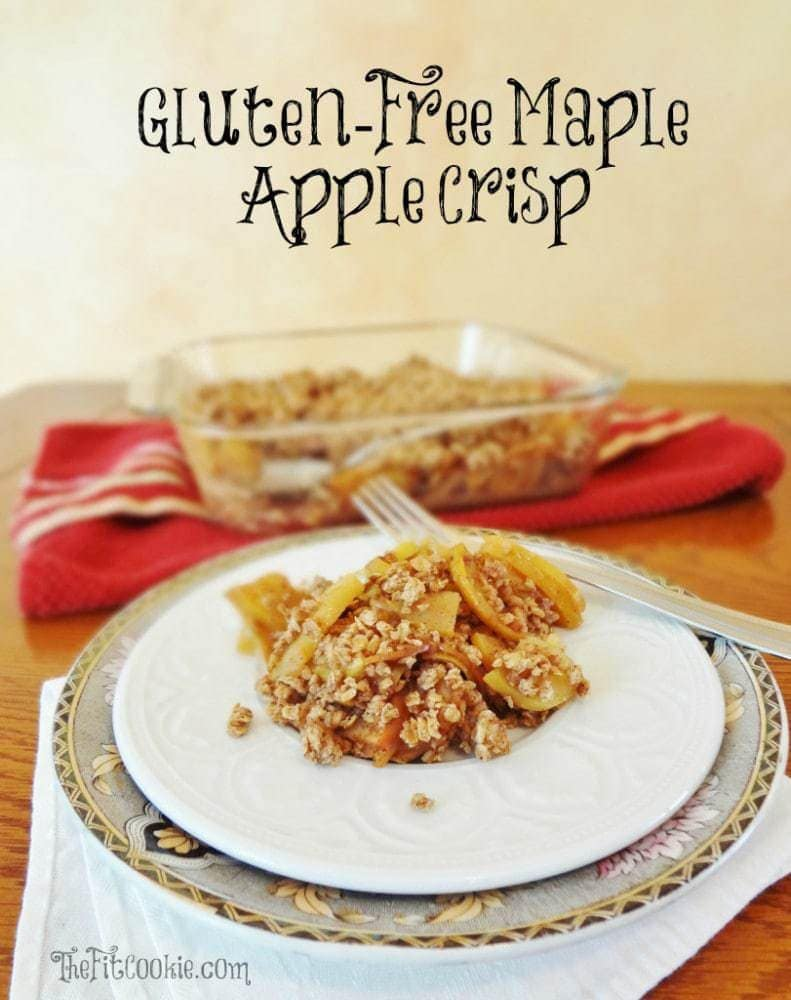 Heart Healthy Recipe Roundup: Gluten Free Maple Apple Crisp - FitBetty.com #recipe #healthy