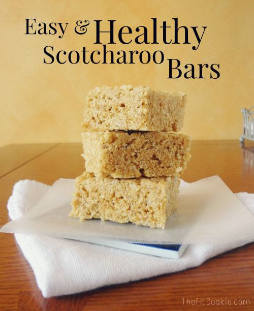 Classics Re-Made: Healthy Scotcharoo Bars - @TheFitCookie #recipe #glutenfree #peanutfree