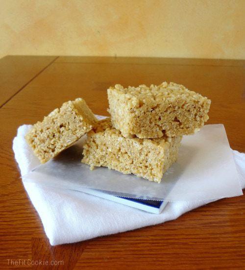 Healthy Scotcharoo Bars - @TheFitCookie #recipe #glutenfree #peanutfree #healthy
