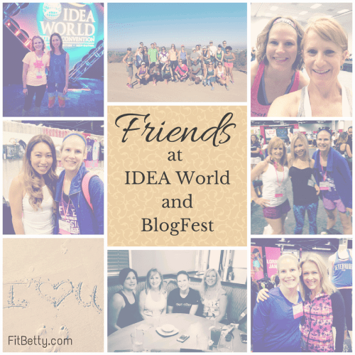 Friends at IDEA World & BlogFest - @Fit_Betty #IDEAworld #BlogFest