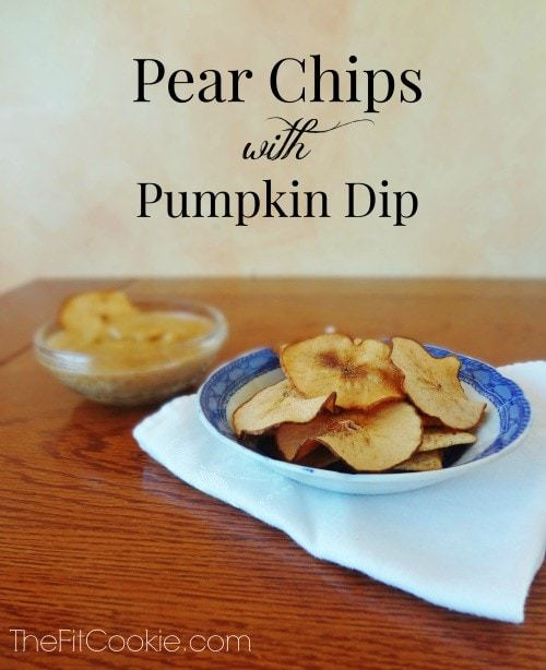 Pear Chips with Pumpkin Dip {Recipe Redux} - @TheFitCookie #reciperedux #recipe #vegan #pumpkin #fall