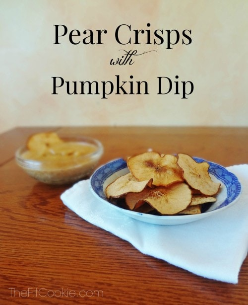 paleo Pear Crisps with dairy free Pumpkin Dip for Thanksgiving