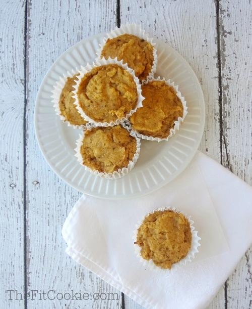 Grain-Free Pumpkin Muffins {Vegan} - @TheFitCookie #recipe #paleo #vegan