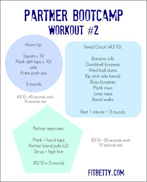 Get Fit with Friends! Partner BootCamp Workouts @Fit_Betty #fitness #workouts #fitfluential