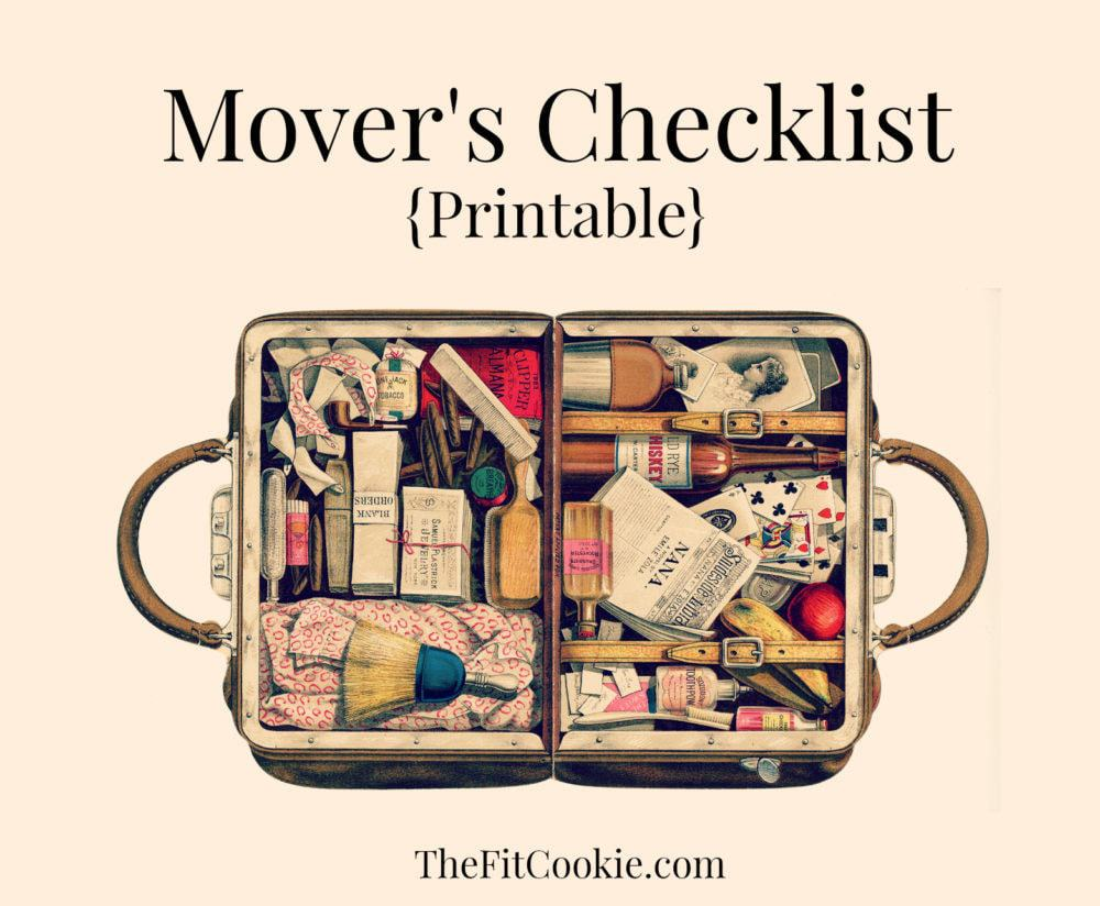 Printable Moving Checklist Packing Tips The Fit Cookie – Moving Checklist