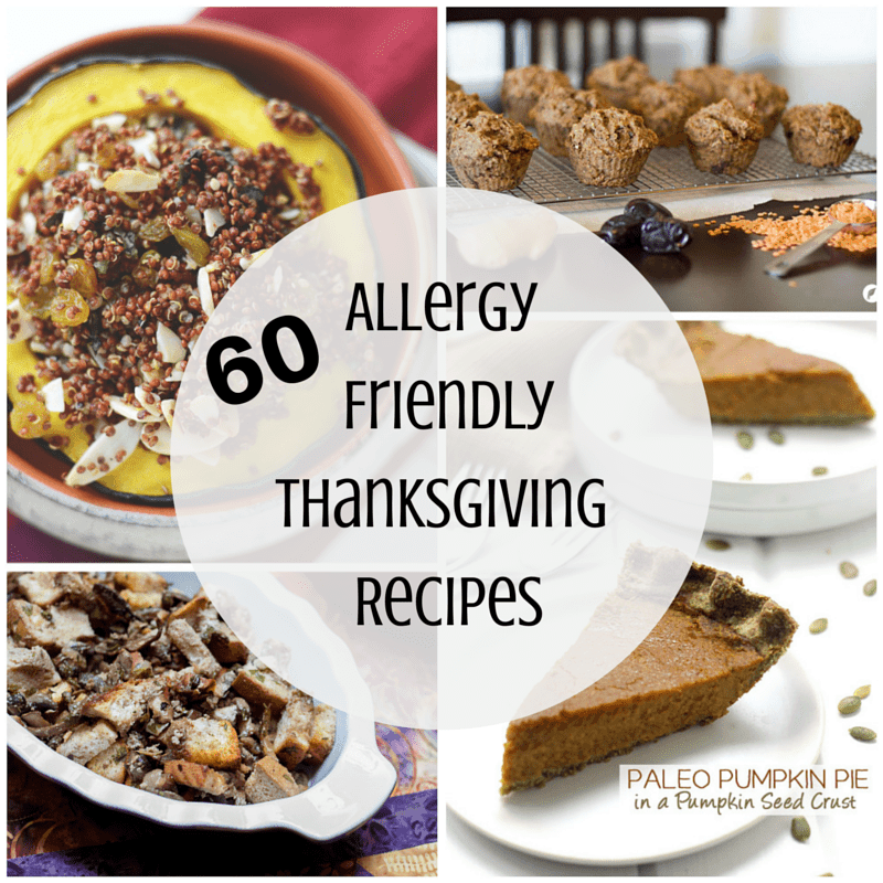 Looking for allergy friendly Thanksgiving recipes for your holiday feast? Look no further! We curated over 50 recipes that fit just about any diet | thefitcookie.com #glutenfree #allergyfriendly #Thanksgiving #dairyfree