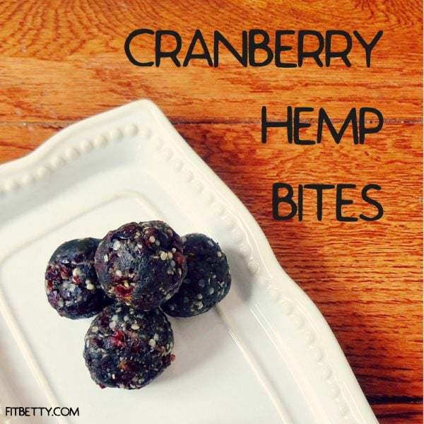 Cranberry Hemp Protein Bites (Grain Free and Vegan)