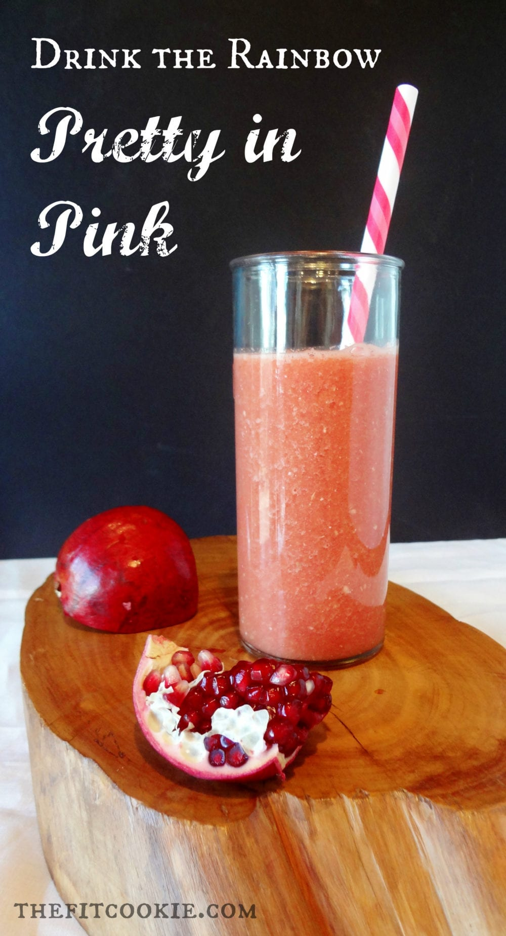 Pretty in Pink Smoothie - @TheFitCookie #smoothie