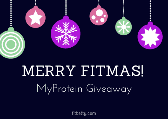Merry Fitmas! MyProtein Giveaway