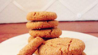 Gluten Free Cardamom Molasses Cookies  (Vegan)