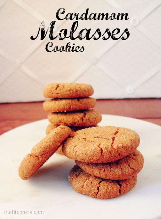 Cardamom Molasses Cookies  {Gluten Free and Vegan}