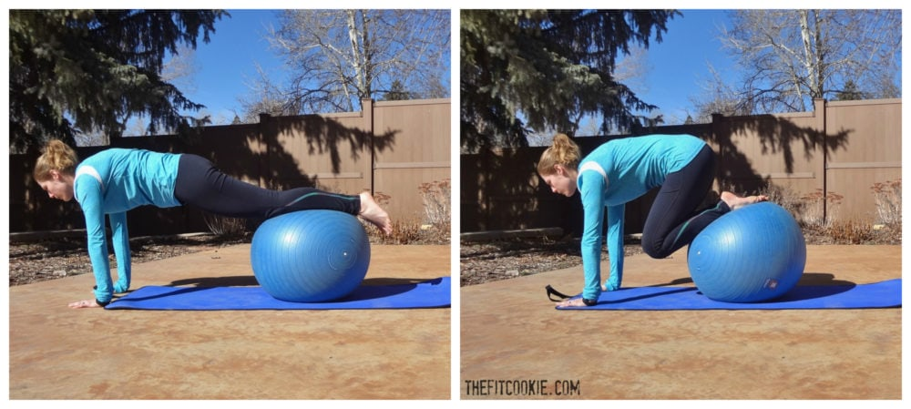 Ball Jackknife: 30-Minute Abs and Glutes Workout - TheFitCookie.com #workout #fitness