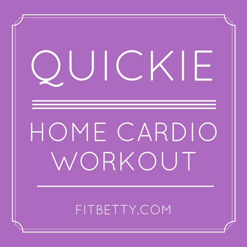 Quickie Home Cardio Workout (No Equipment!)