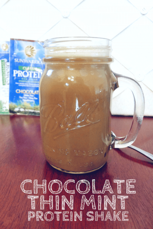 Chocolate Thin Mint Protein Shake - @Fit_Betty @TheFitCookie #recipe @SunWarrior #vegan #glutenfree
