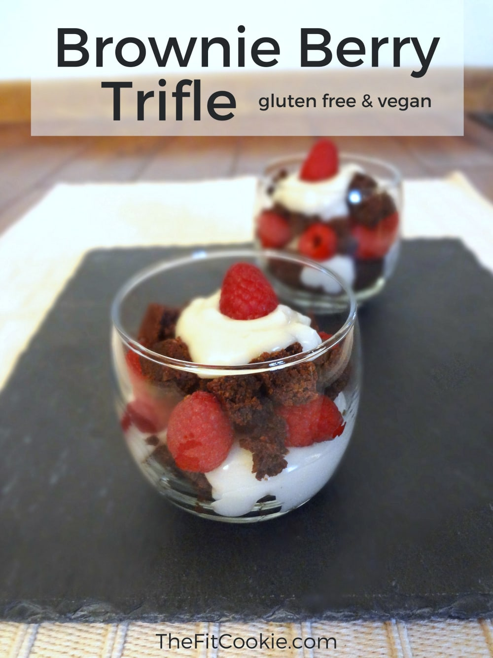 Brownie Berry Trifle {Recipe ReDux} - @TheFitCookie #glutenfree #reciperedux #vegan