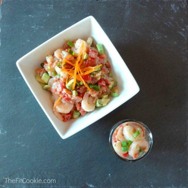 Light & Zesty Shrimp Salad - #ad @TheFitCookie @Ro_Tel #recipe #salad #JustAddRotel #cbias