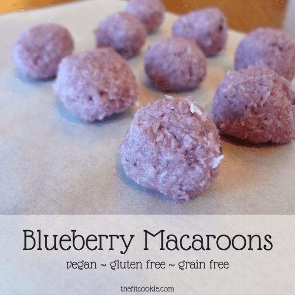 Blueberry Macaroons {Recipe Redux}