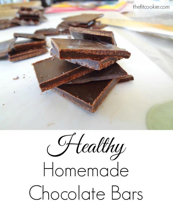 Guilt-free Healthy Homemade Chocolate - @TheFitCookie #chocolate #DIY #healthy