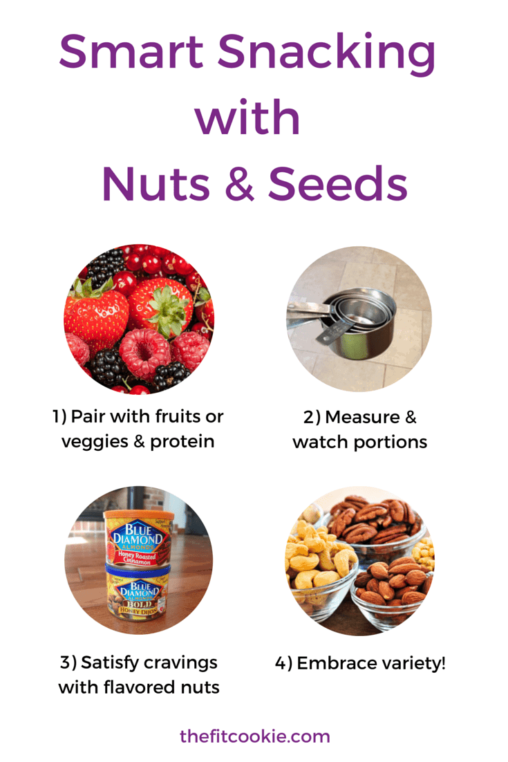 Smart Snacking with Nuts & Seeds - #ad TheFitCookie.com @BlueDiamond #nutrition