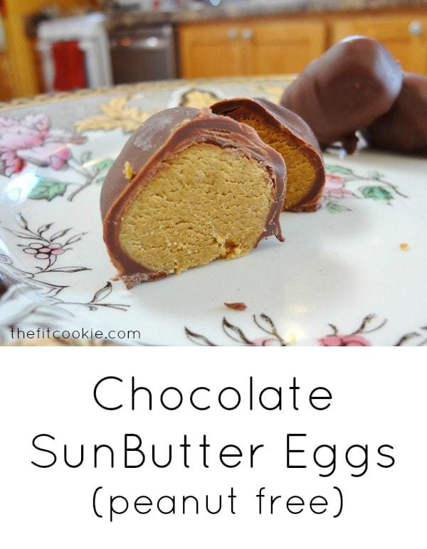 Chocolate SunButter Eggs - @TheFitCookie #chocolate #peanutfree #glutenfree
