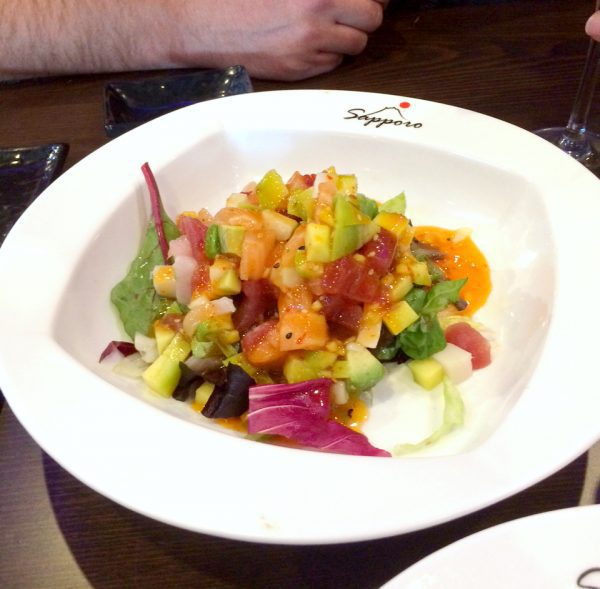Sashimi salad from Sapporo | The Fit Life #7: News and New Things - @TheFitCookie #fitness #fitfluential #cleaneating