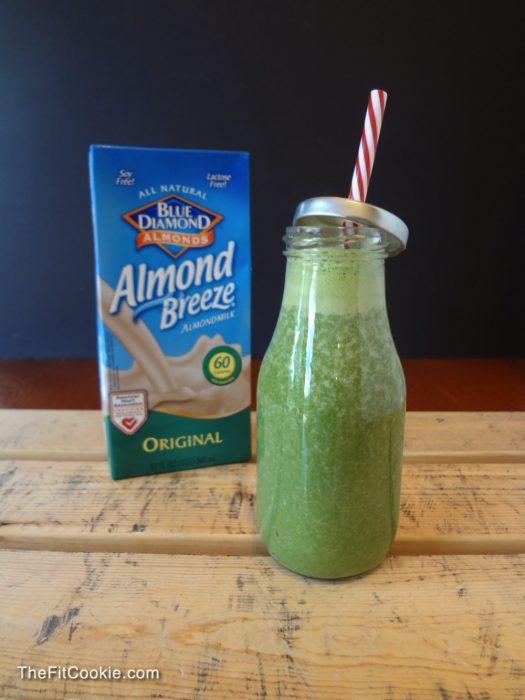 Get your veggies! Green Monster Smoothie - {AD} #smoothie #recipe @AlmondBreeze #glutenfree