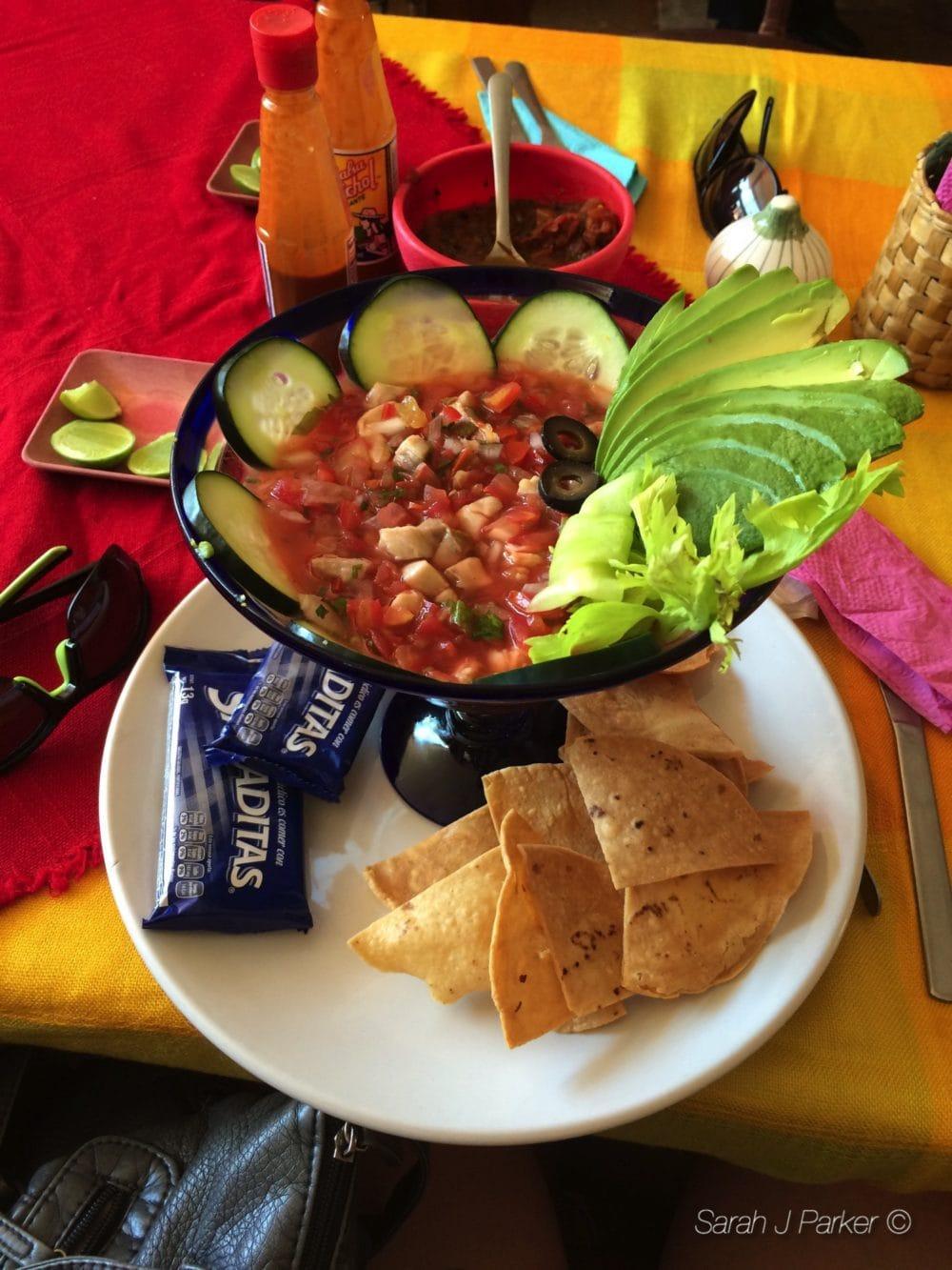 Ceviche in Mexico - @thefitcookie